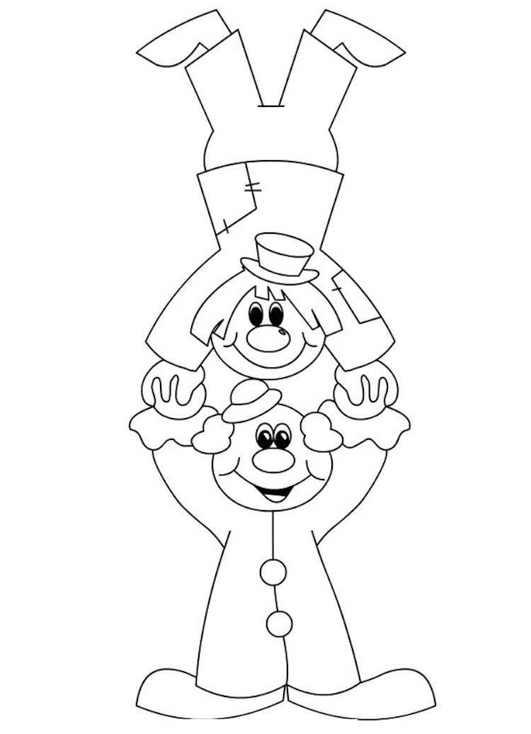 Clown Basteln Mit Kindern Zu Fasching Vorlagen Ideen Und