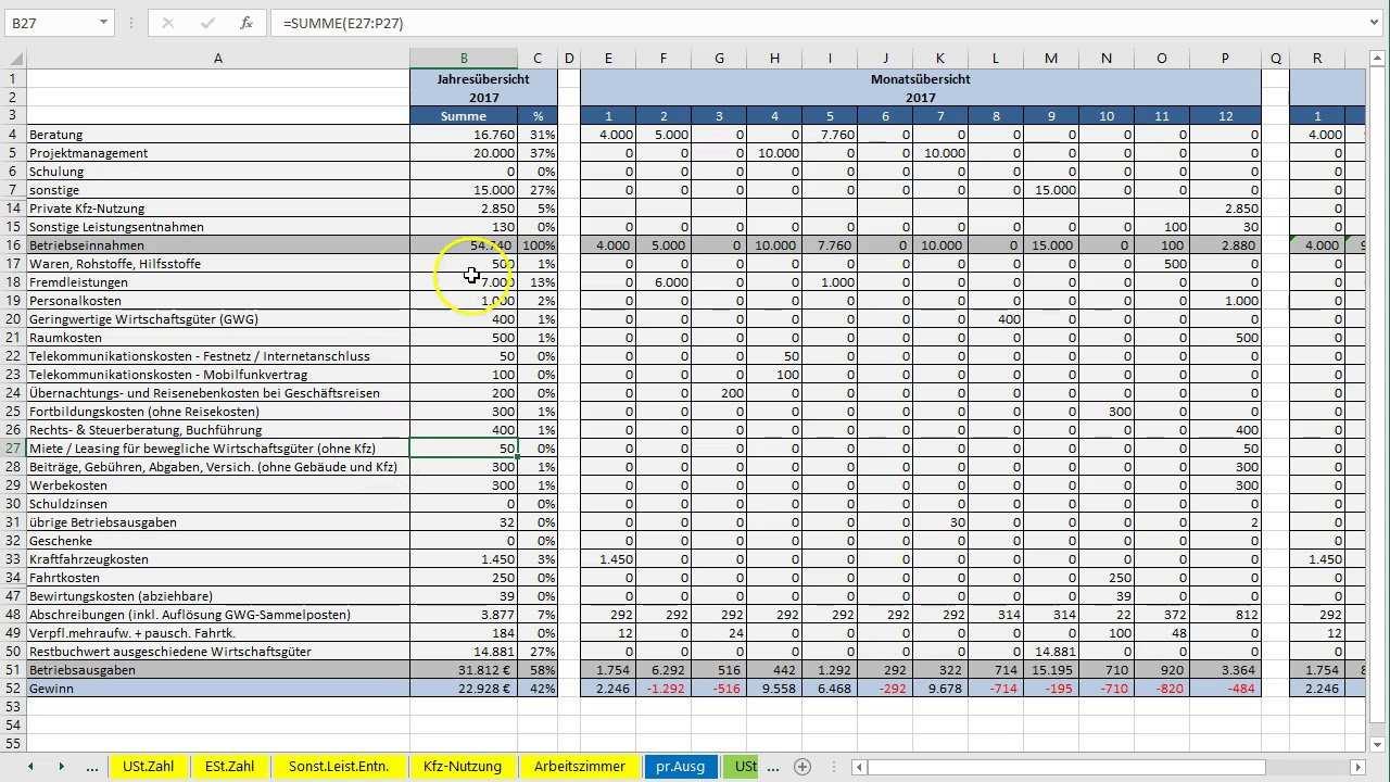 Kontenblatt In Excel Vorlage Eur Erstellen Youtube