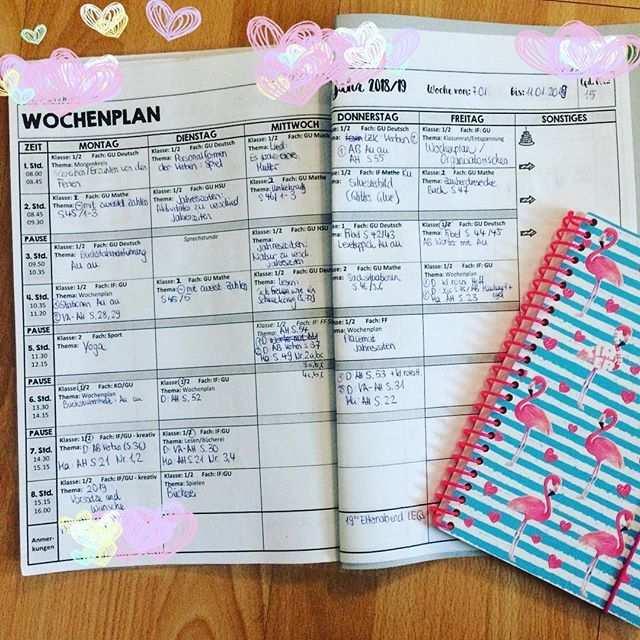 Wochenplan Unterrichtsplanung Fur Die Grundschule Erleichterung