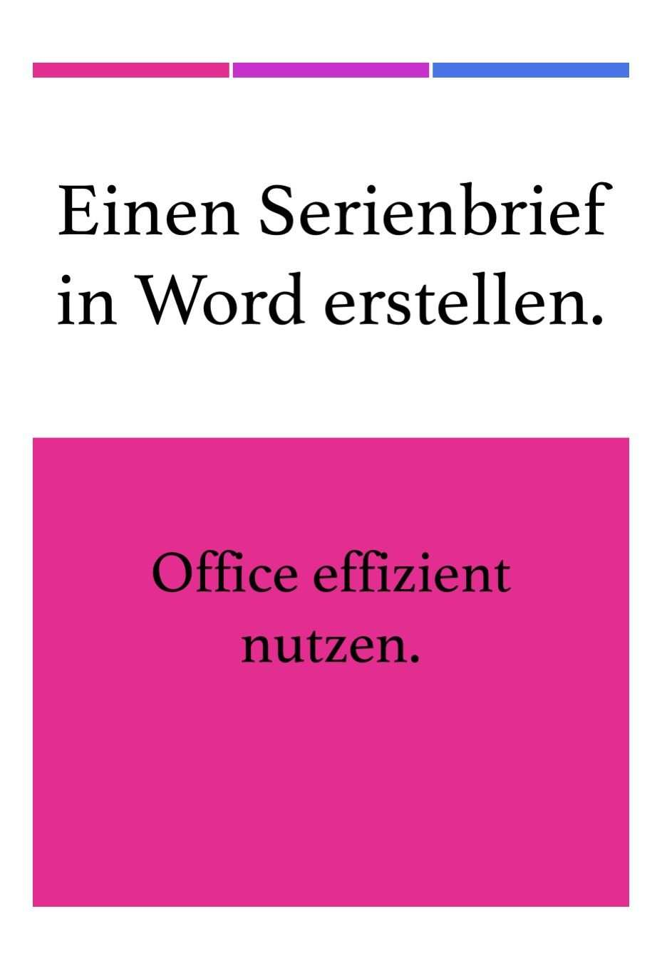 Einen Serienbrief In Word Erstellen Mit Bildern Tipps Und Tricks