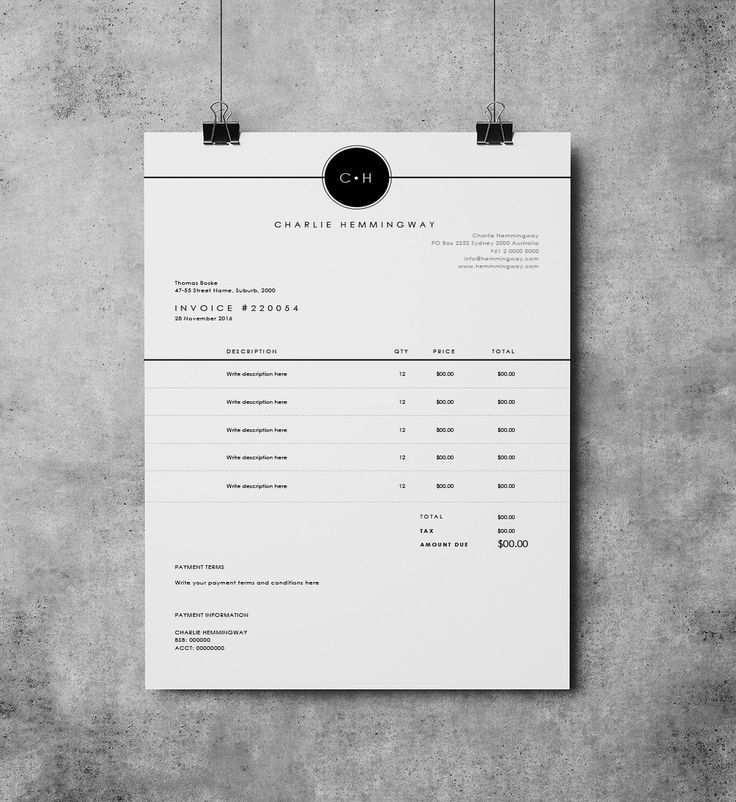 Rechnung Vorlage Rechnung Design Zahlungseingang Ms Word