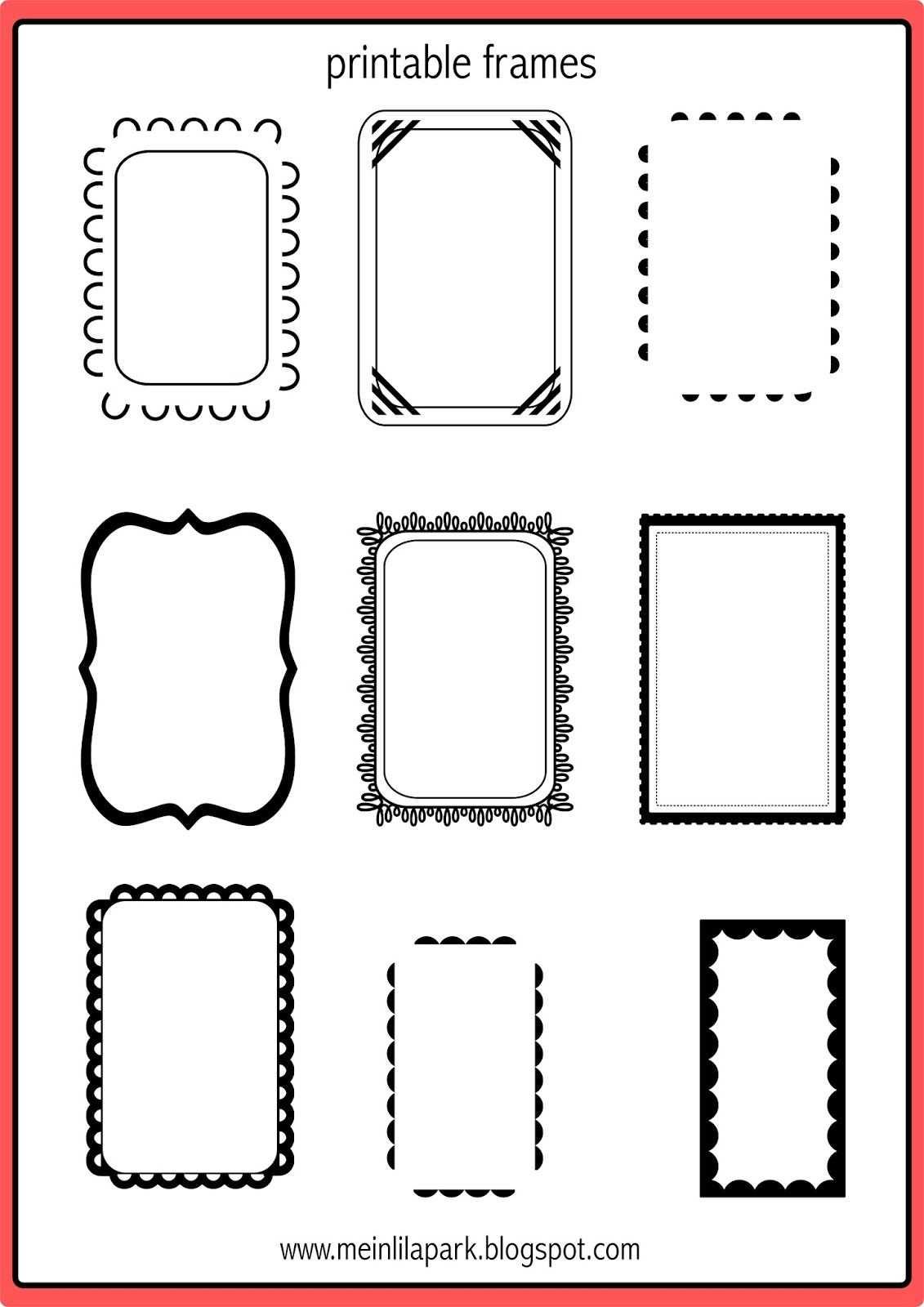 Free Printable Doodle Frames Ausdruckbare Etiketten Freebie