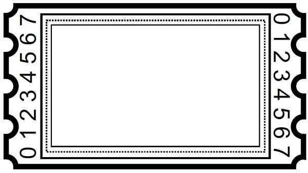 Blank Ticket Clipart Ticket Template Free Printables Ticket