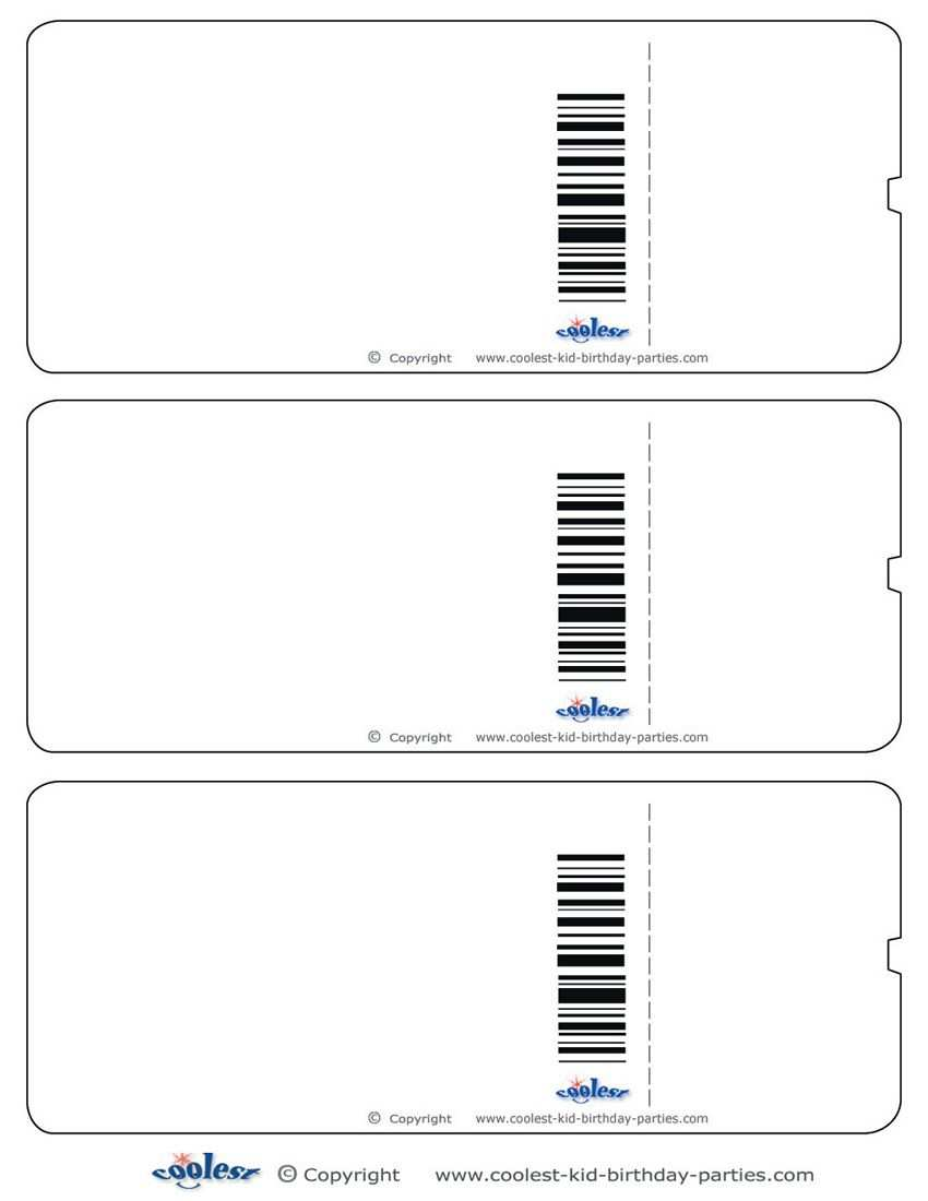 Blank Printable Airplane Boarding Pass Invitations Party
