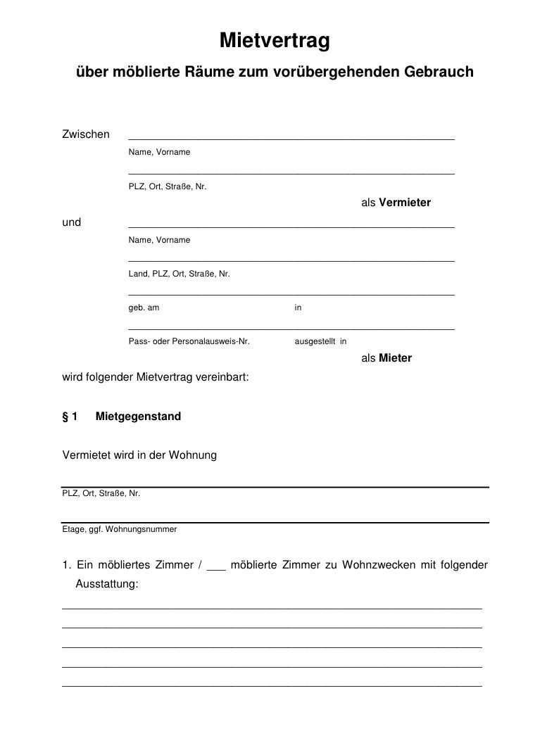 Muster Kundigung Mietvertrag Vorlagen Word Lebenslauf Vorlagen