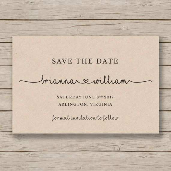 Save The Date Printable Template Diy Wedding Rustic Save The