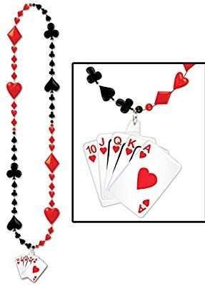 Casino Party Spielkarte Perlen Halskette Amazon De Spielzeug