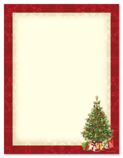 Free Printable Christmas Stationary Paper Briefpapier