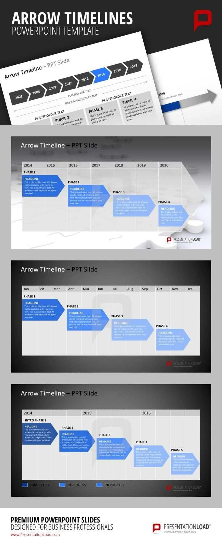 Timelines Arrows Presentationload Powerpoint Slide Designs