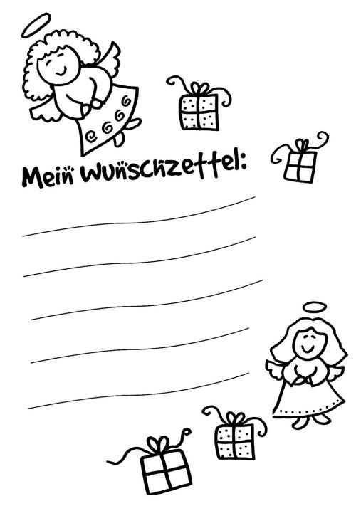 Wunschzettel Fur Weihnachten Wunschzettel Fur Kinder Zum Ausmalen