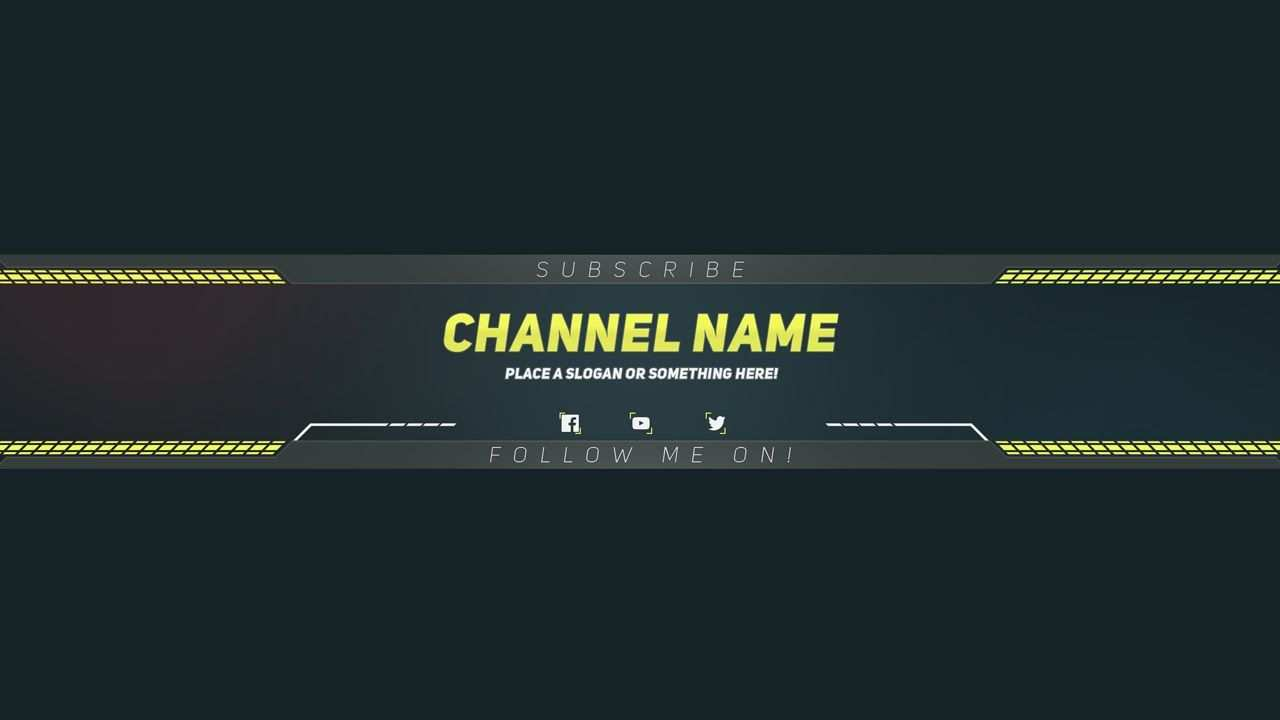 Premium Youtube Banner Template Photoshop Template Regarding