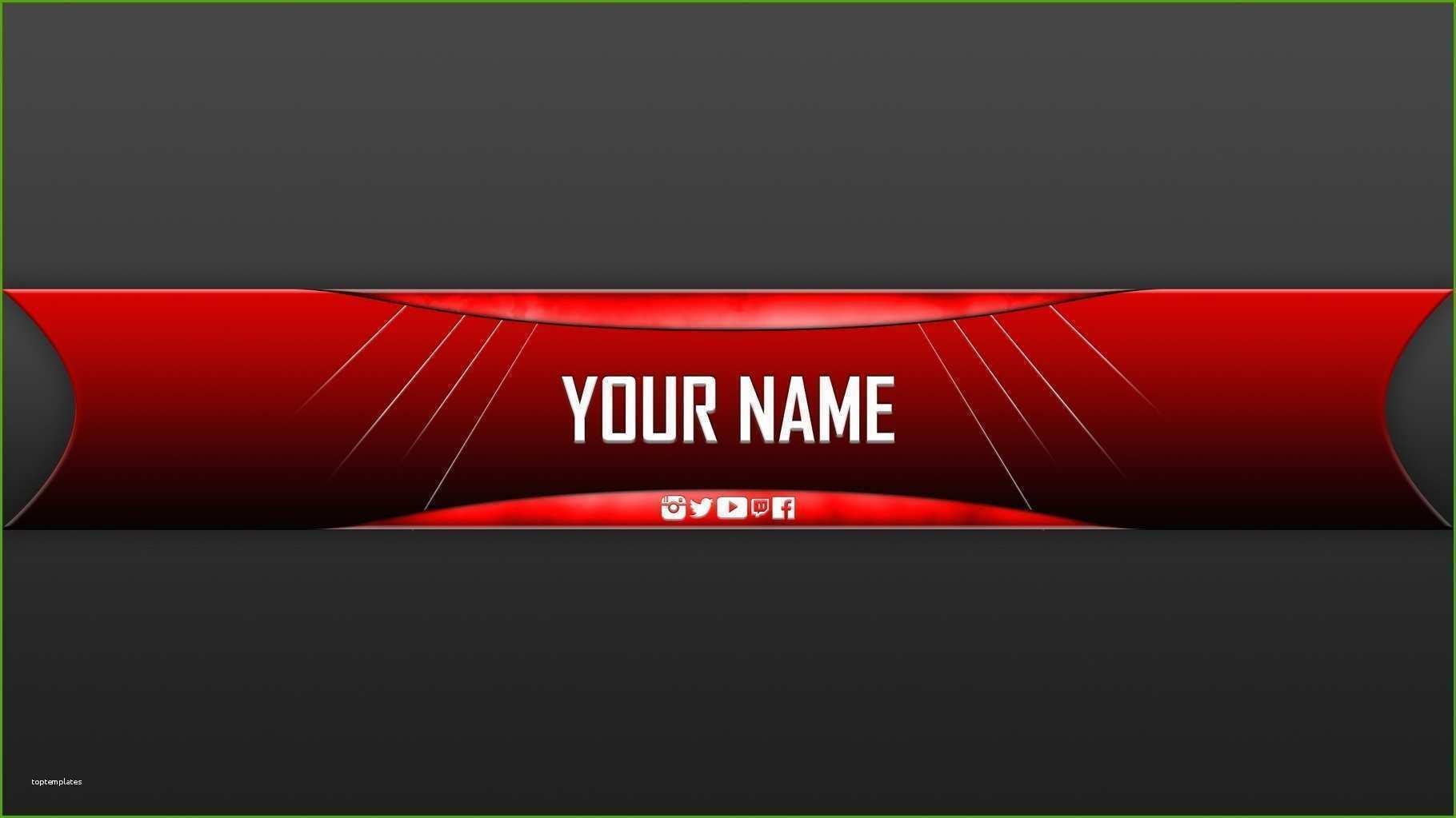 Youtube Kanalbanner Vorlage Gute Youtube Gaming Banner Template