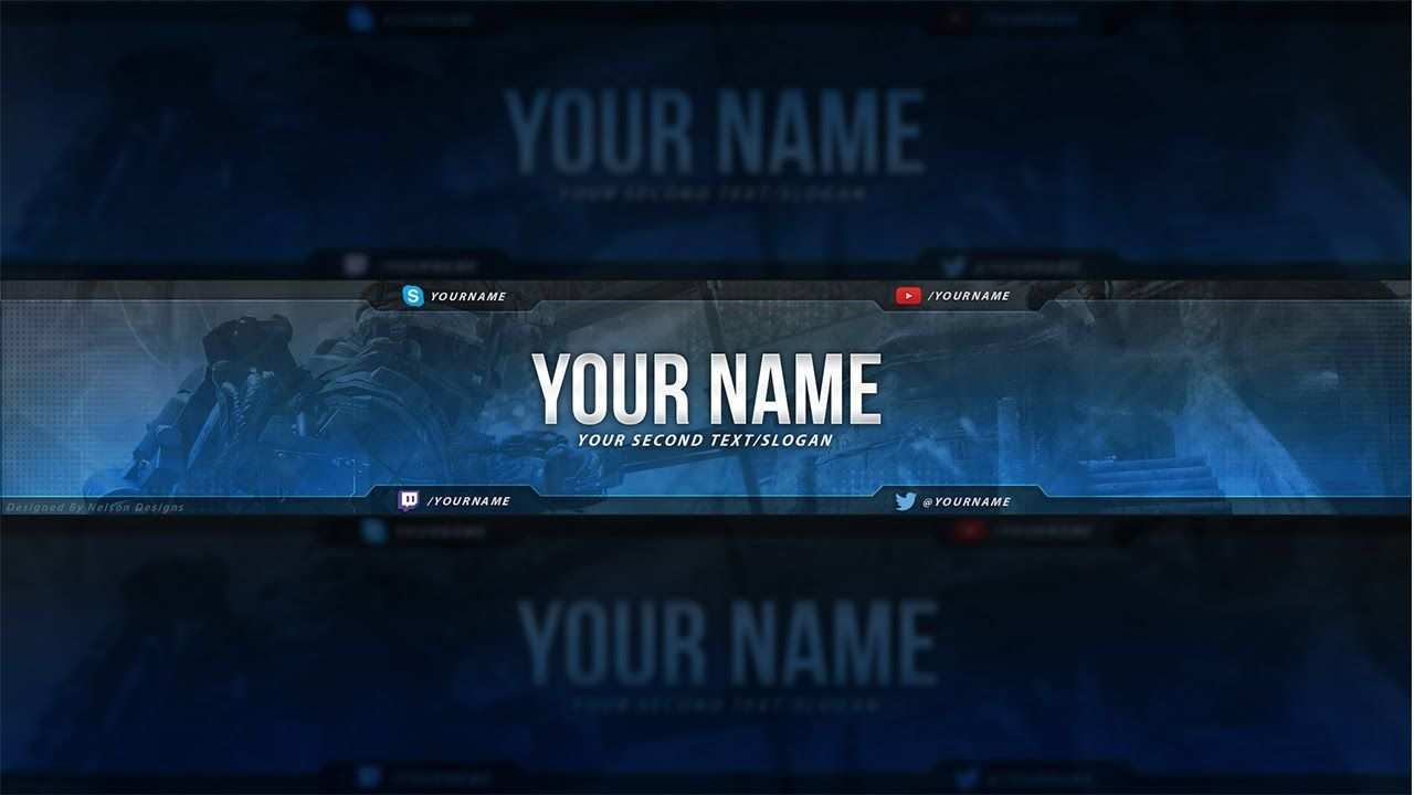 Call Of Duty Youtube Banner Template Free Download Psd