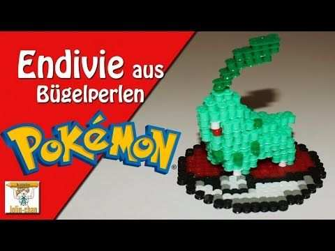 Diy Endivie Pokemon Chikorita 3d Bugelperlen Tutorial Perler Bead Youtube Perler Beads Pokemon Perler Beads 3d Perler Bead
