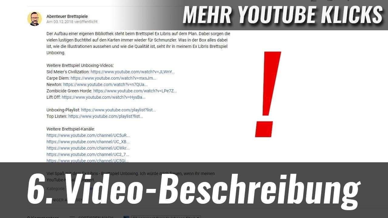 Mehr Youtube Aufrufe 6 Video Beschreibung Optimieren Beispiel Youtube