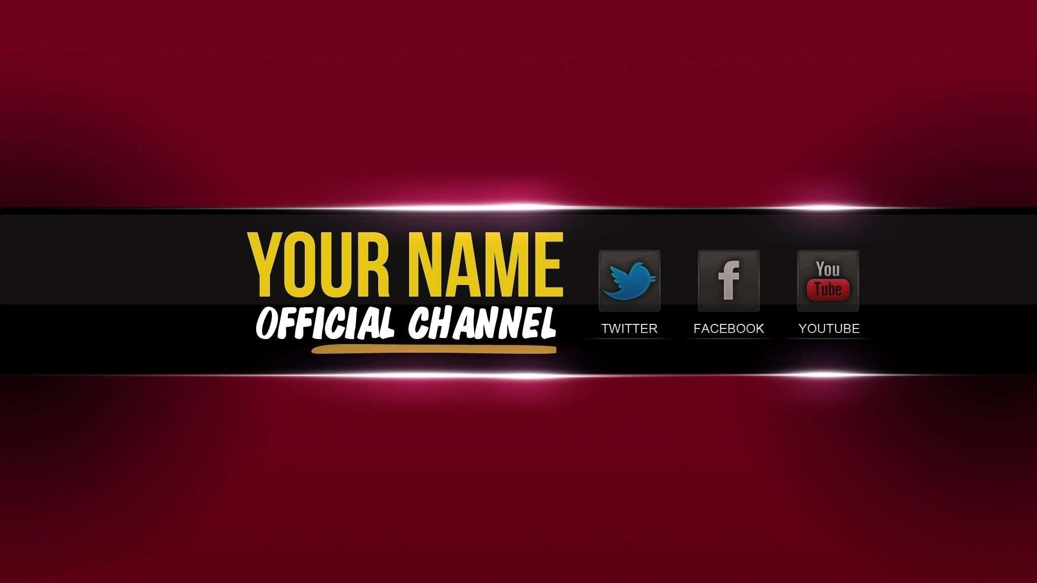 2048x1152 Youtube Banner Template Psd Cyberuse For Banner For