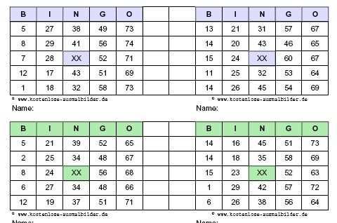 Bingokarten Kostenlos Ausdrucken Bingo Vorlage Bingo Karten Bingo