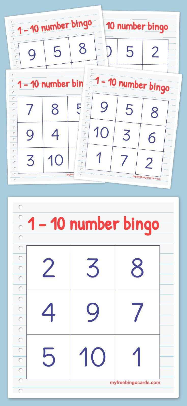 Free Printable Bingo Cards Zahlen Vorschule Zahlen Lehren