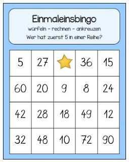 Bingo Bis Zur Zehnerreihe Endlich Pause 2 0