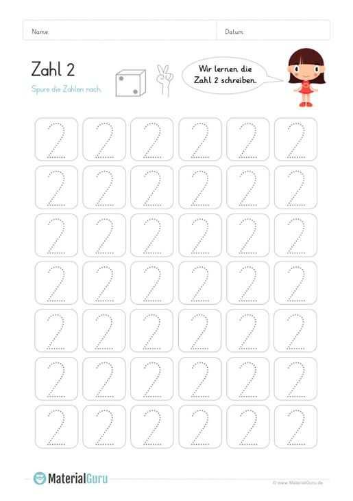 Zahl 2 Schreiben Lernen Schreiben Lernen Zahlen Schreiben