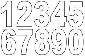Zahlenschablonen Zum Ausdrucken Kostenlos 04 Schablonen Zum
