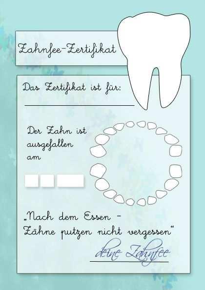 Zahnfeezertifikat Zum Ausdrucken Zahnfee Zahnfee Brief Zahnfee