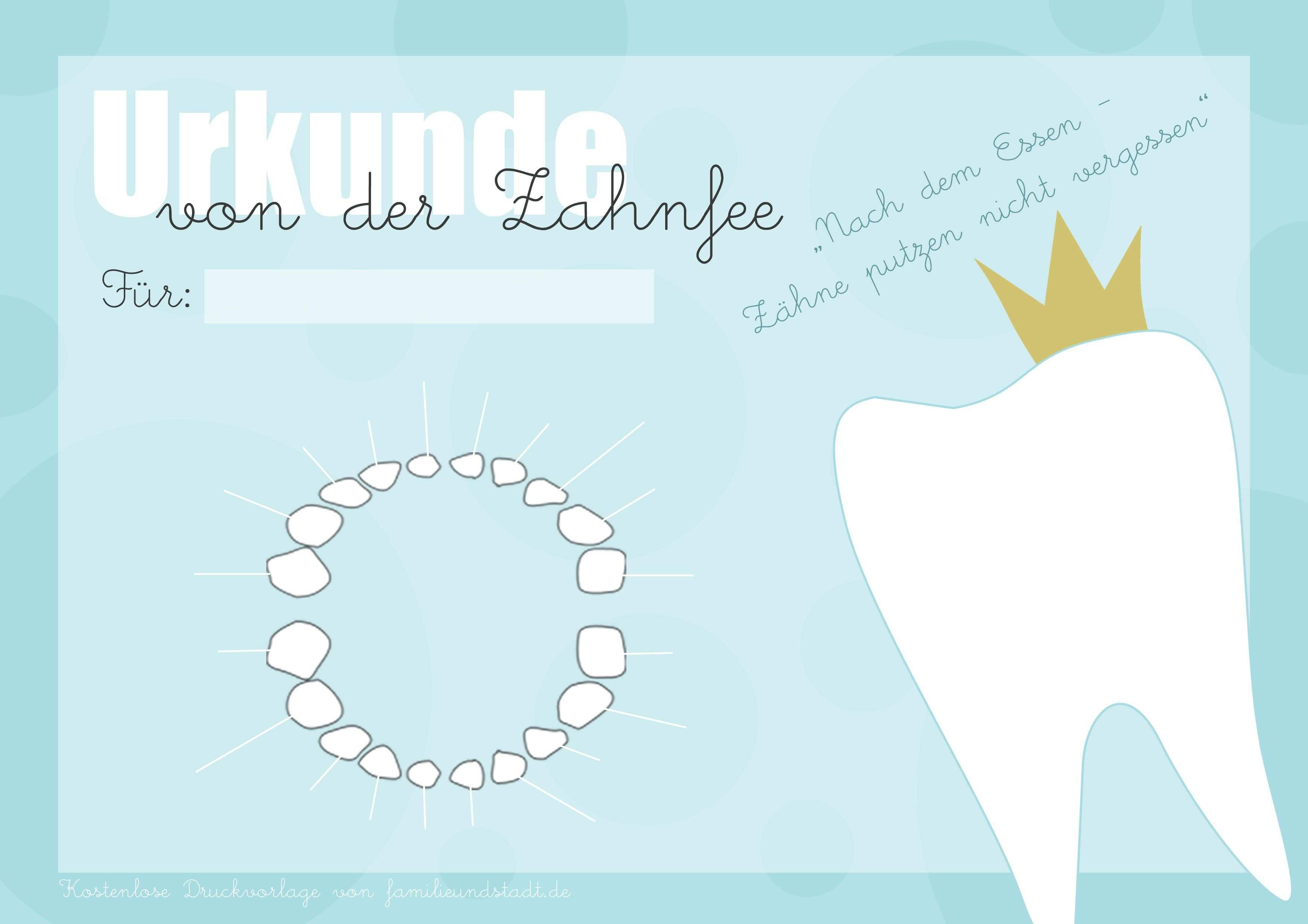 Zahnfee Urkunde Zum Ausdrucken Zahnfee Zahnfee Brief Zahnfee
