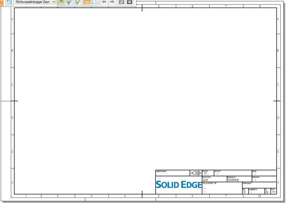 Solid Edge Draftvorlage Nach Aktueller Din Norm Angepasst Fur St8