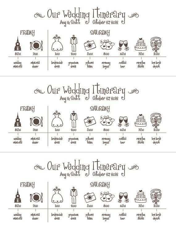 Hochzeit Timelinedruckbare Digitale Datei Zeitplan Von