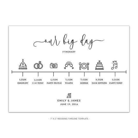 Wedding Timeline Template White Rustic Look Timeline Wedding