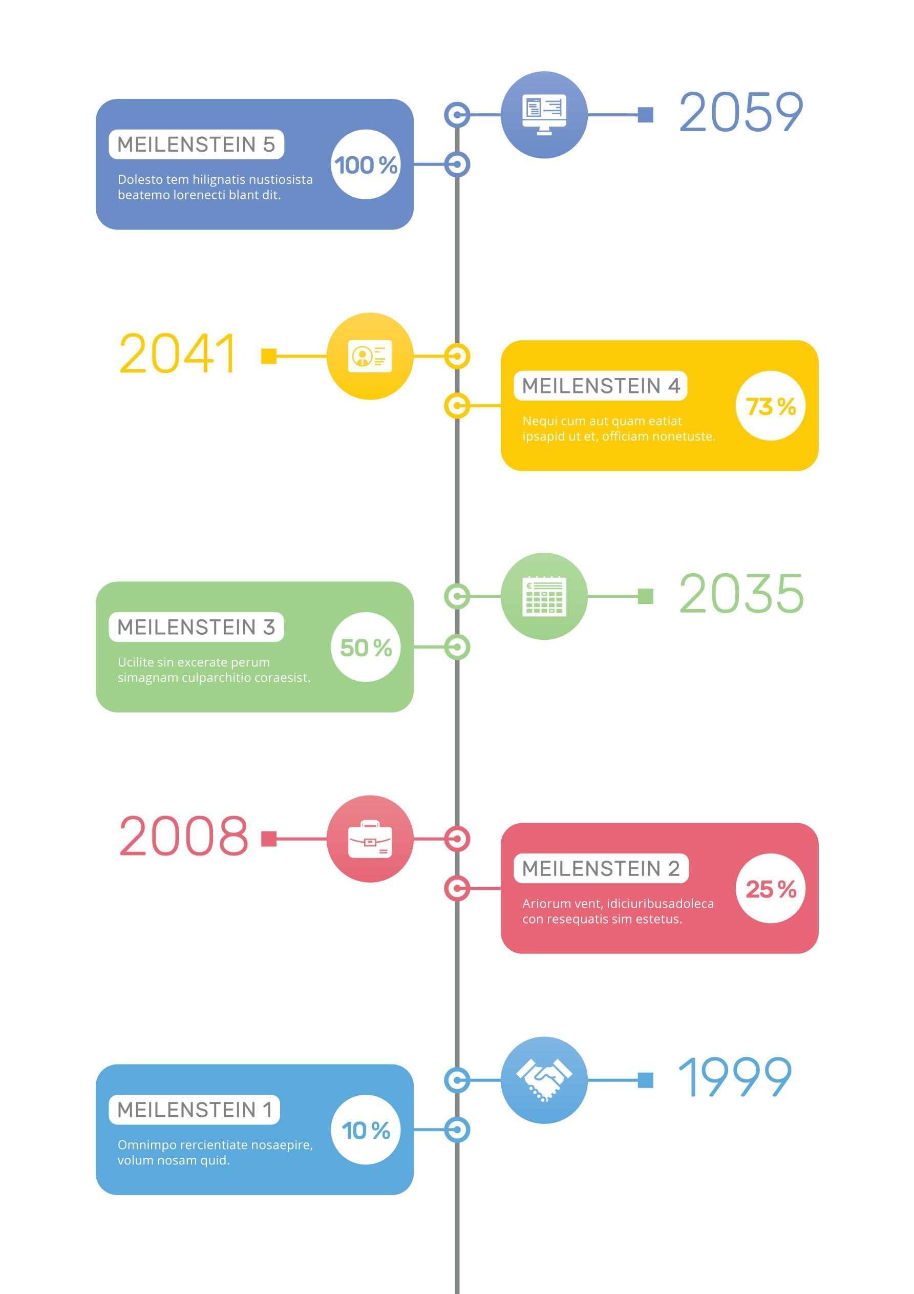 Zeitstrahl Vorlagen Moderne Timelines Erstellen Vorlagen