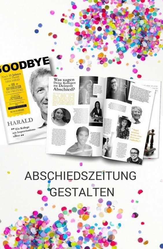 Gestalte Zusammen Mit Deinen Kollegen Eine Eigene Abschiedszeitung
