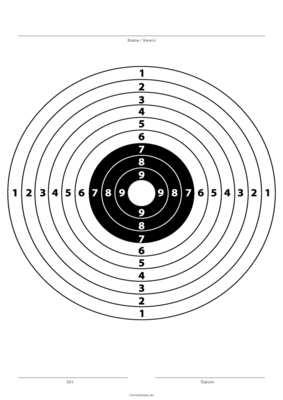 Zielscheibe Schwarz Weiss Pdf Vorlage Zum Ausdrucken