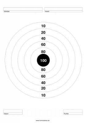Zielscheibe 100 Punkte Pdf Vorlage Zum Ausdrucken