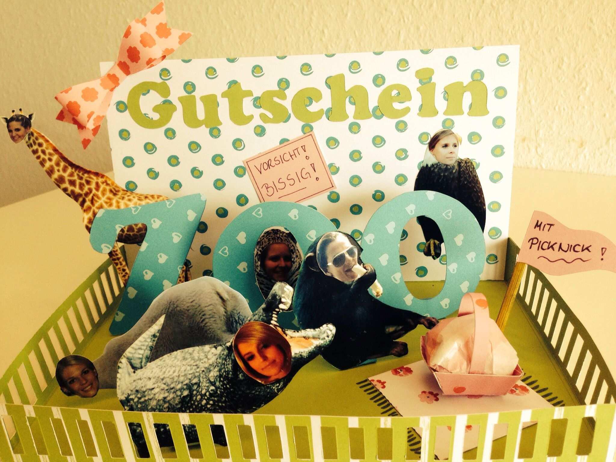 Zoo Gutschein In 3d Optik Gutschein Basteln Zoo Gutschein
