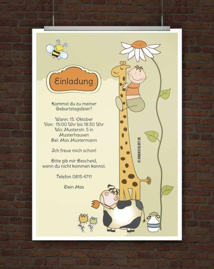 Kostenlose Einladung Kindergeburtstag Einladung Kindergeburtstag