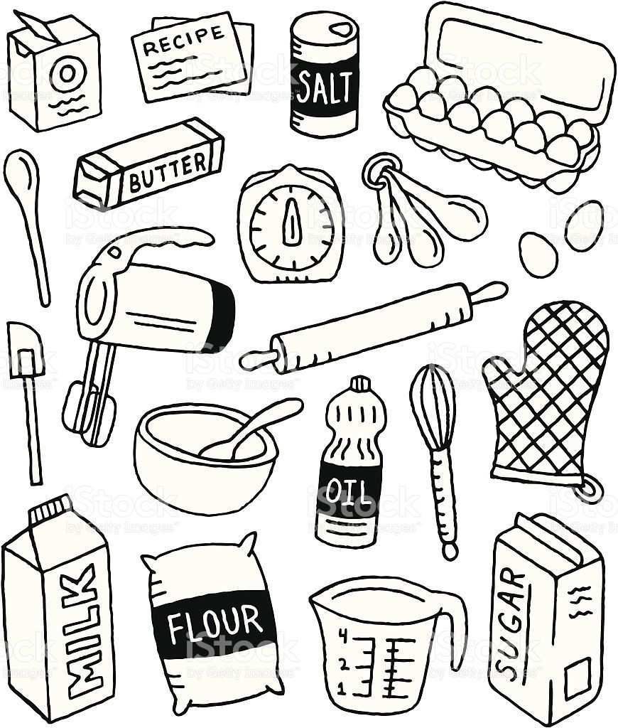 A Baking Themed Doodle Page Doodle Pages Doodles Bullet Journal Doodles